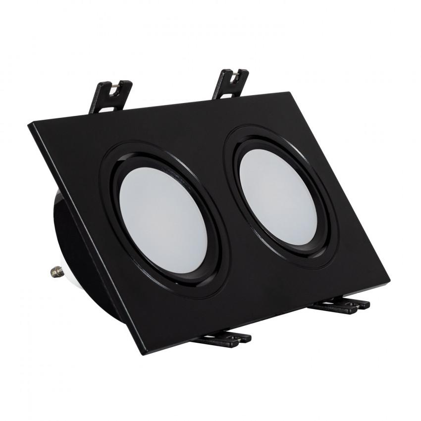 Foco Downlight Cuadrado Basculante GU10 6W Corte 75x150 mm PC