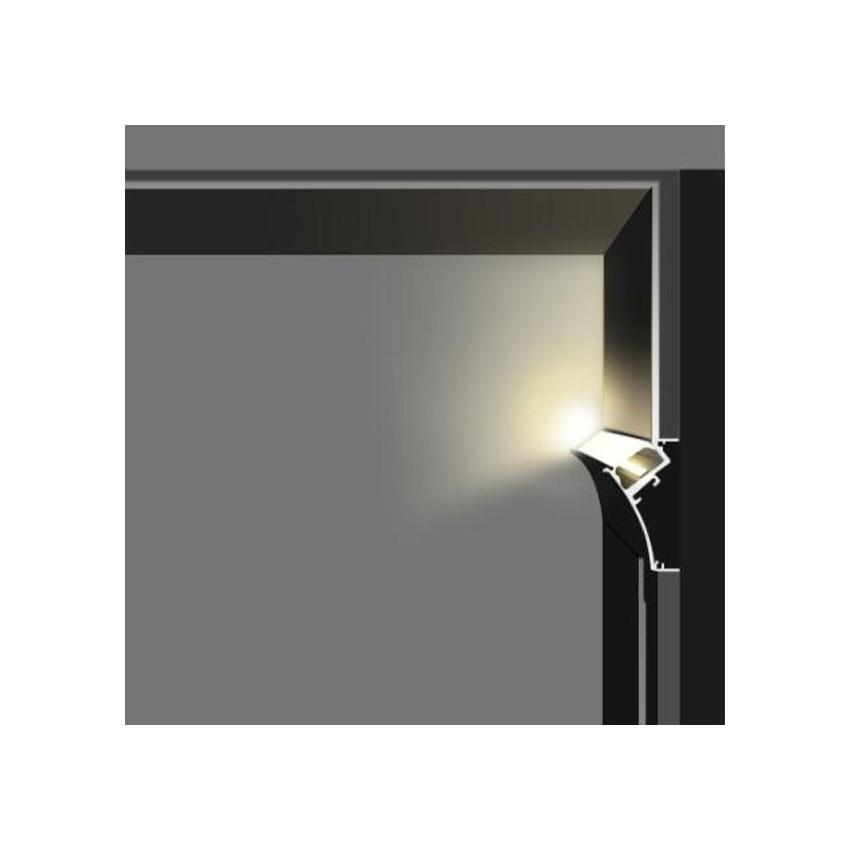 Perfil de Aluminio Empotrable para Escayola / Pladur con Tapa Continua para Tira LED hasta 20mm