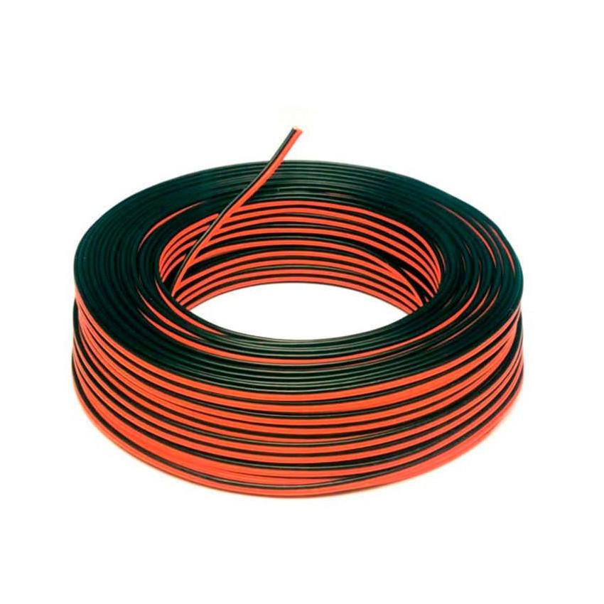 Rollo 100m Cable Eléctrico Plano Manguera 2x0.5mm² para Tiras LED Monocolor