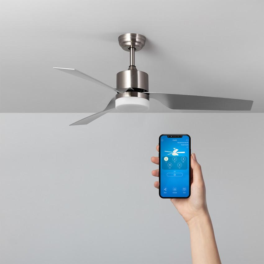 Ventilador de Techo LED Minimal PRO Niquel 132cm Motor AC WiFi