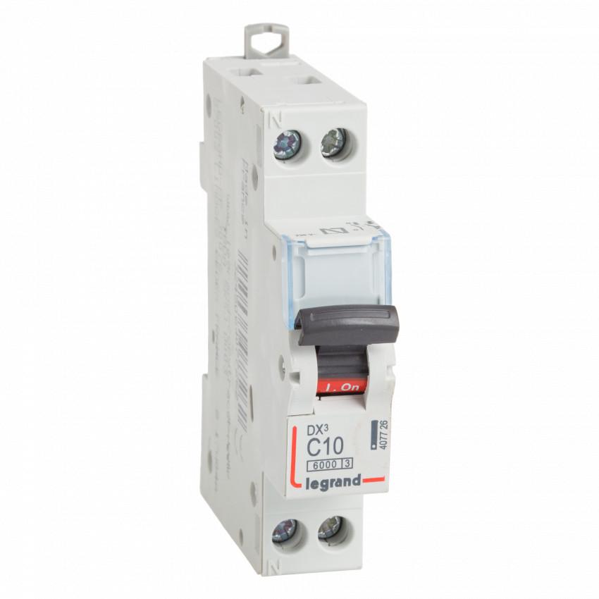 Interruptor Automático Magnetotérmico DX3 Terciario 1P+N Curva C 10kA 10-32 A LEGRAND 407726