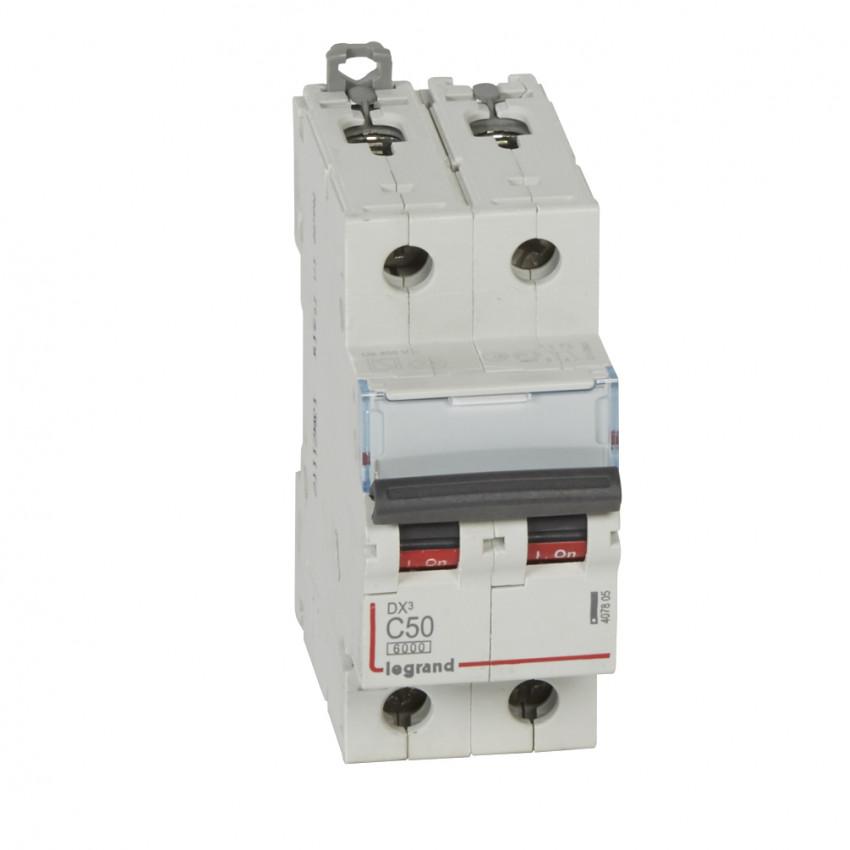 Interruptor Automático Magnetotérmico DX3 Terciario 2P Curva C 6/10kA 50-63 A LEGRAND 407805