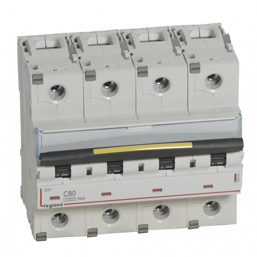 Interruptor Automático Magnetotérmico DX3 Terciario 4P Curva C 10/16kA 80-125 A LEGRAND 409362