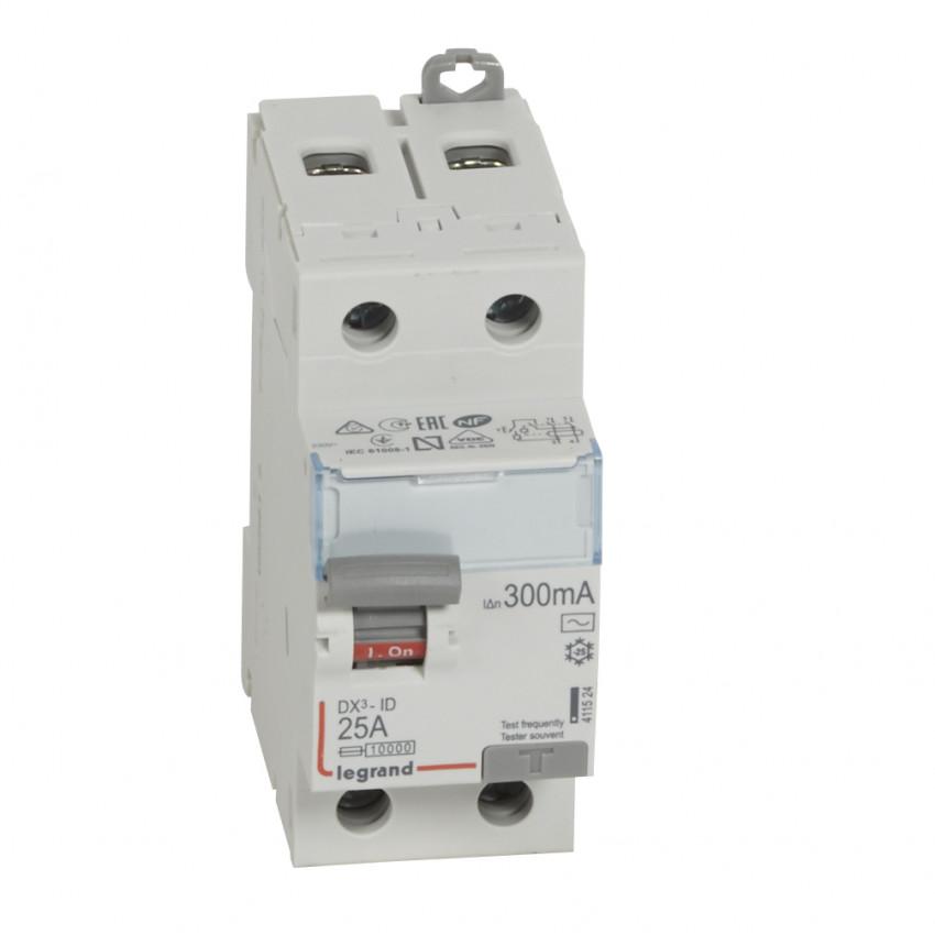 Interruptor Diferencial DX3 Terciario 2P 300mA Tipo AC 25-63 A LEGRAND 411524
