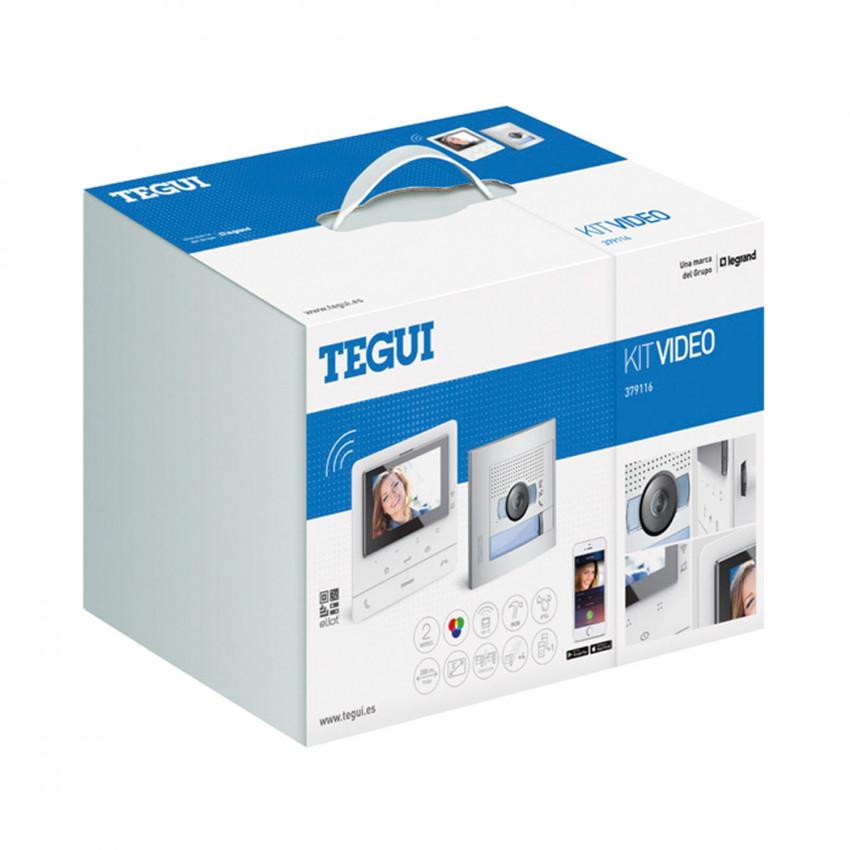 Kit Videoportero 1 Vivienda 2 Hilos con Placa SFERA NEW y Monitor Manos Libres CLASSE 100 X16E Conectado TEGUI 379116