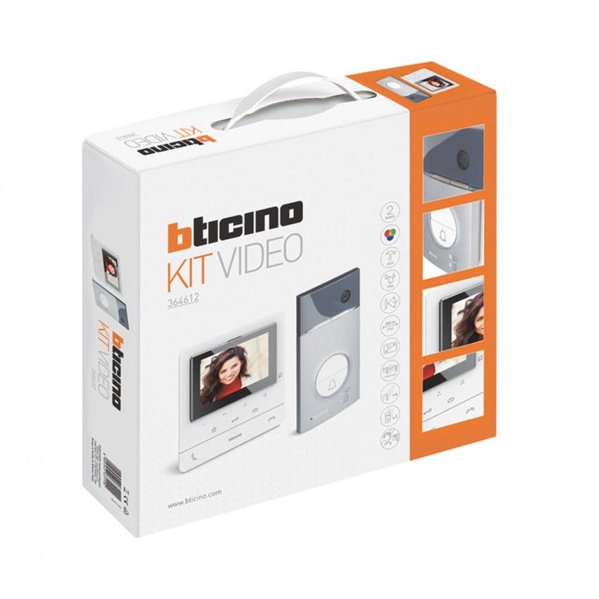 Kit Videoportero 1 Vivienda 2 Hilos con Placa LINEA 3000 y Monitor Manos Libres CLASSE 100 Avanzado BTICINO 364612