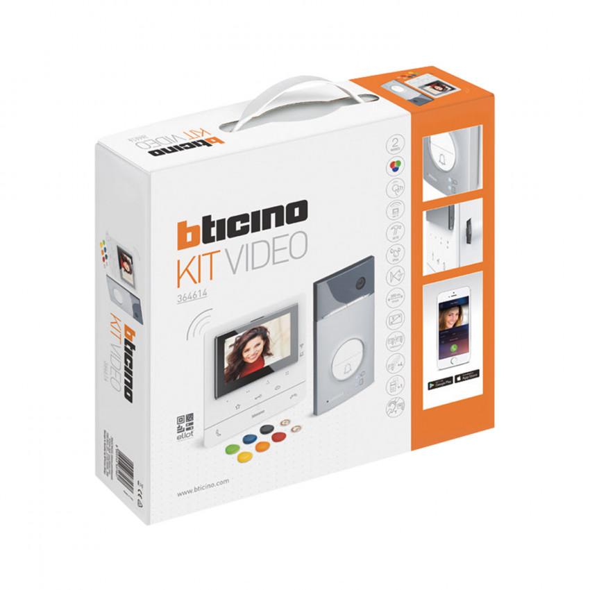 Kit Videoportero 1 Vivienda 2 Hilos con Placa LINEA 3000 y Monitor Manos Libres CLASSE 100 Conectado BTICINO 364614