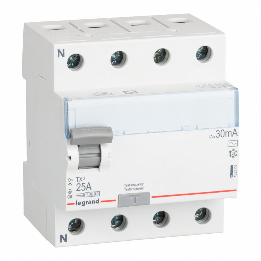 Interruptor Diferencial TX3 Terciario 4P 30mA Tipo AC 40A LEGRAND 403004