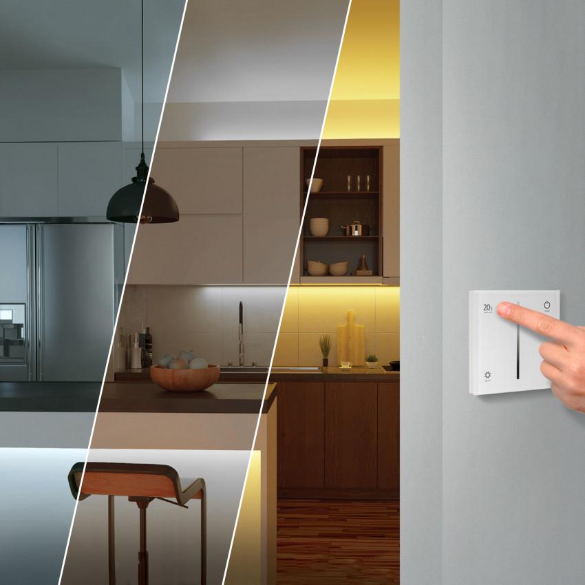 Fita LED Monocor com Mecanismo Regulador Táctil e Alimentação