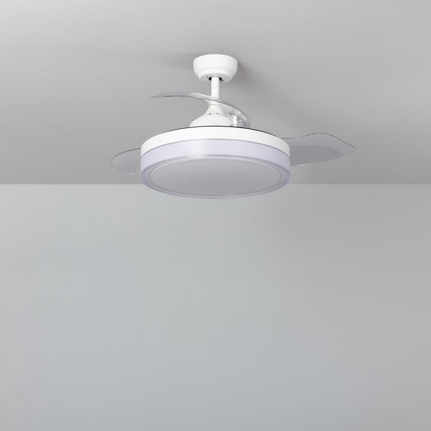 Ventilador de Techo LED Caicos Blanco 106cm Motor DC