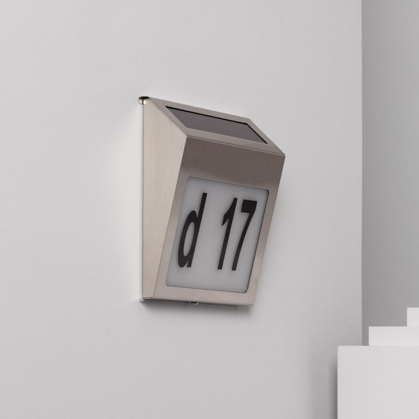 Aplique LED Solar Barua para Numeração Residencial