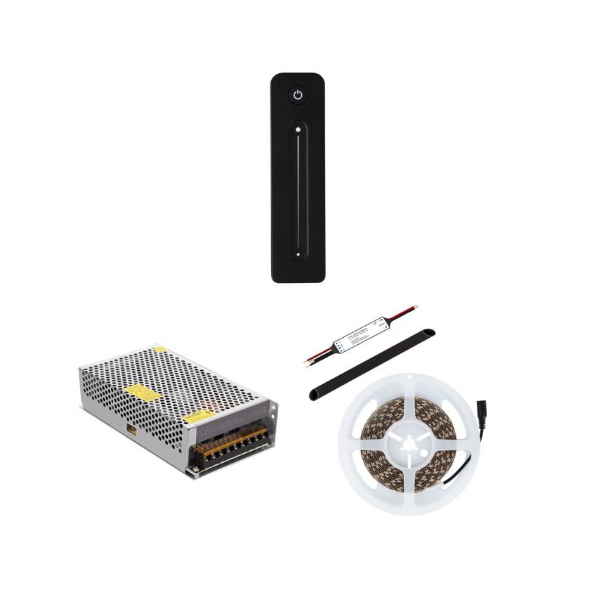 Fita LED 24V DC 60LED/m 5m IP20 Monocor com Controlador Inalâmbrico e Fonte de Alimentação