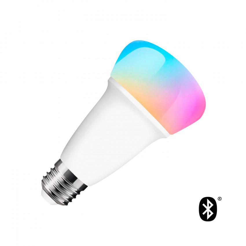 Lâmpada LED RGBW Bluetooth E27 Regulável Multicor 9W