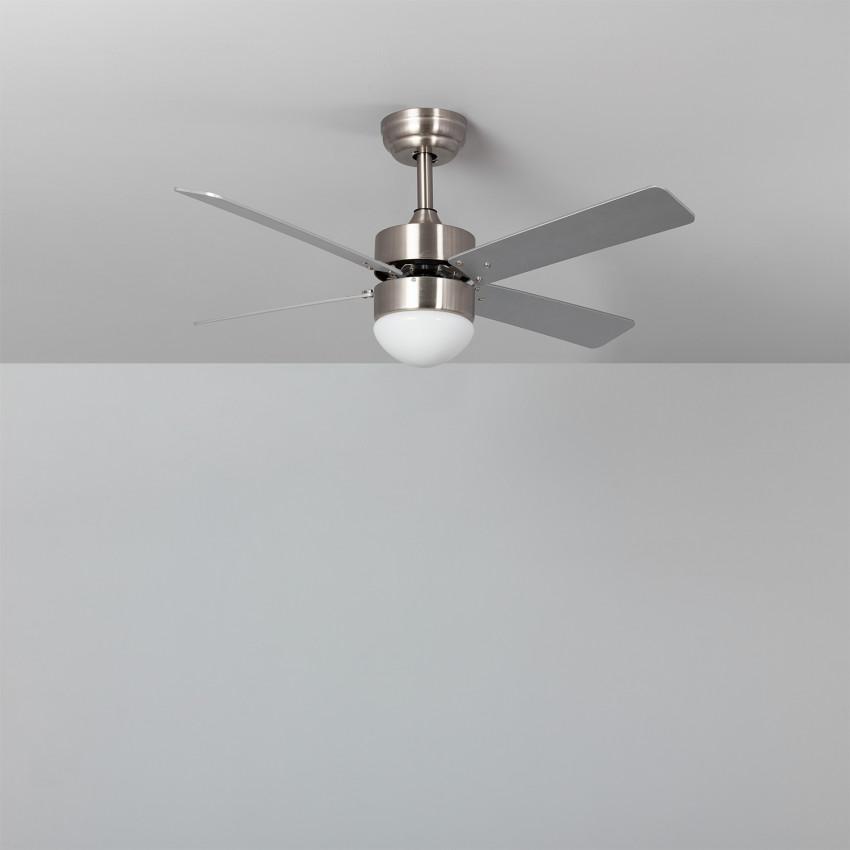 Ventilador de Techo LED Cygnus Níquel 107cm Motor DC