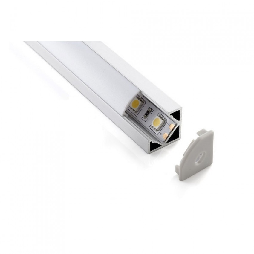 Perfil con Tira LED New Aretha 300mm 4W para Esquinas