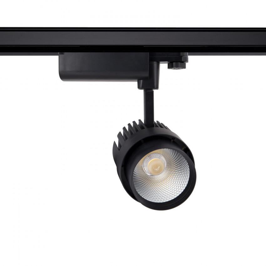 Foco LED Dora 30W Negro para Carril Trifásico