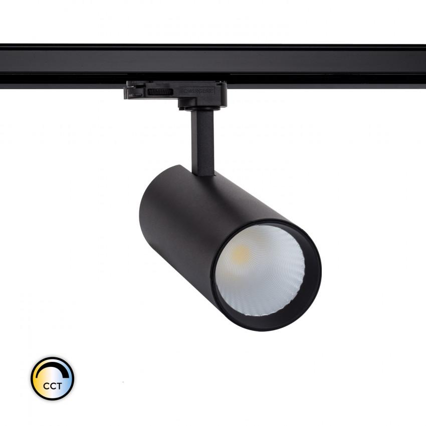 Foco LED New Bertha Negro 30W CCT LIFUD para Carril Trifásico