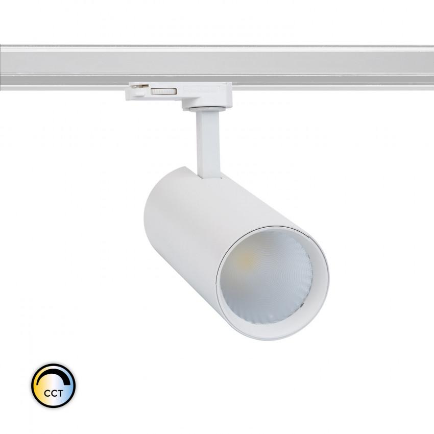 Foco LED New Bertha Branco 30W CCT LIFUD para Carril Trifásico