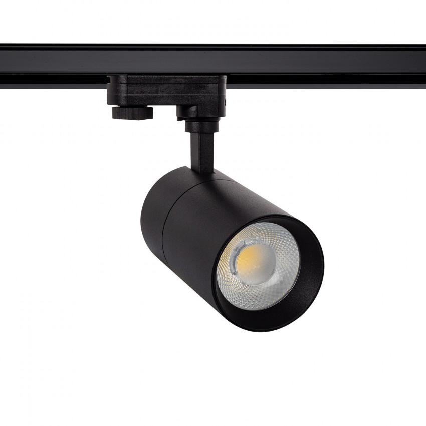 Foco LED New Mallet Negro 30W Regulable para Carril Trifásico (UGR 15)