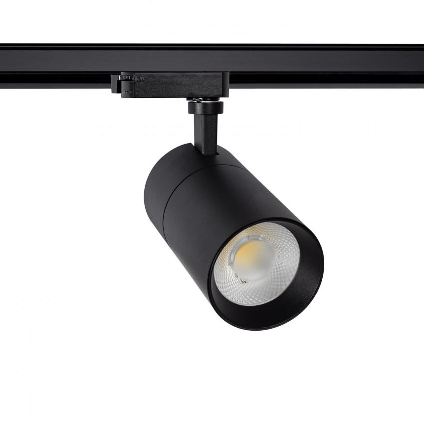 Foco LED New Mallet Preto 20W Regulável No Flicker para Carril Monofásico (UGR 15)