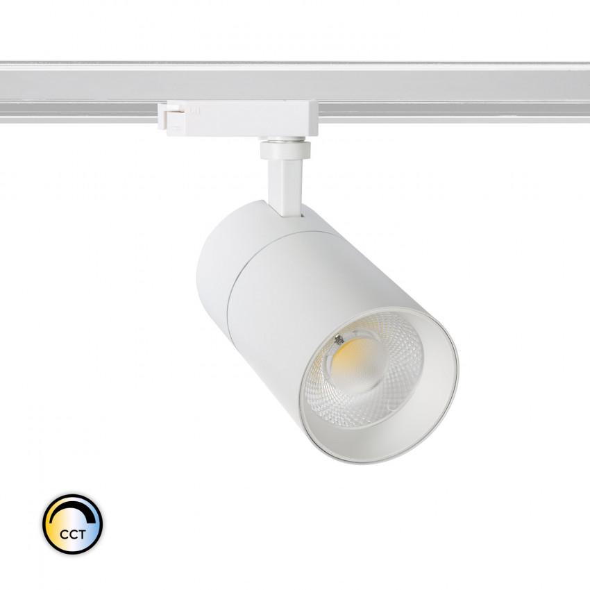 Foco LED New Mallet 30W Regulável CCT Seleccionável para Carril Monofásico (UGR 15)