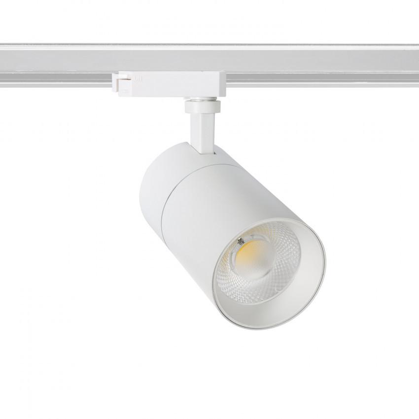 Foco LED New Mallet Blanco 30W Regulable para Carril Monofásico (UGR 15)