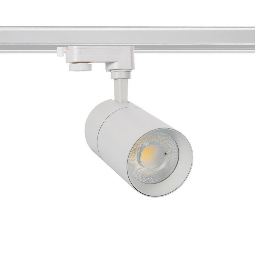 Foco LED New Mallet Blanco 20W Regulable para Carril Trifásico (UGR 15)