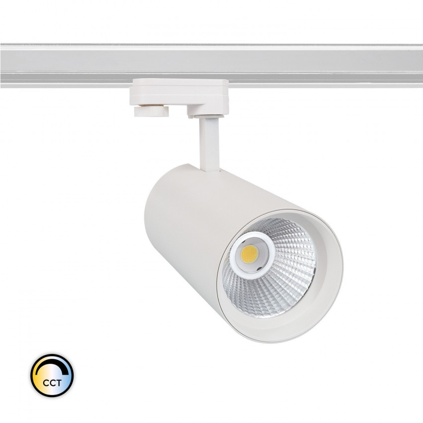Foco LED New d'Angelo Branco 40W CCT LIFUD para Carril Trifásico
