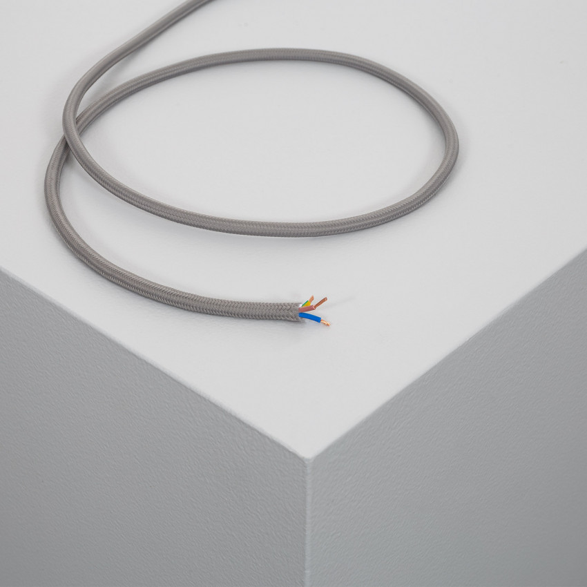 Cable Textil Gris