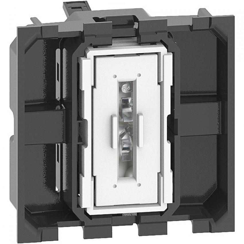 Mecanismo Interruptor Conmutador 2 Módulos 10 AX 250V AC BTicino Living Now K4003M2A