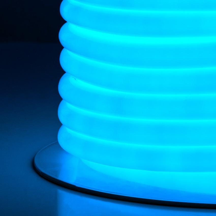 Bobina Neón LED Flexible Circular 360 120LED/m Azul 50 Metros