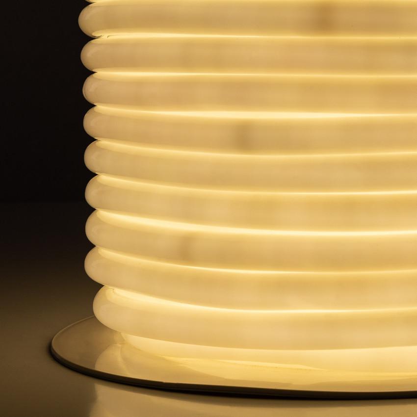 Rolo Neon LED Flexivel Circular 360 120LED/m Branco Neutro 50 Metros
