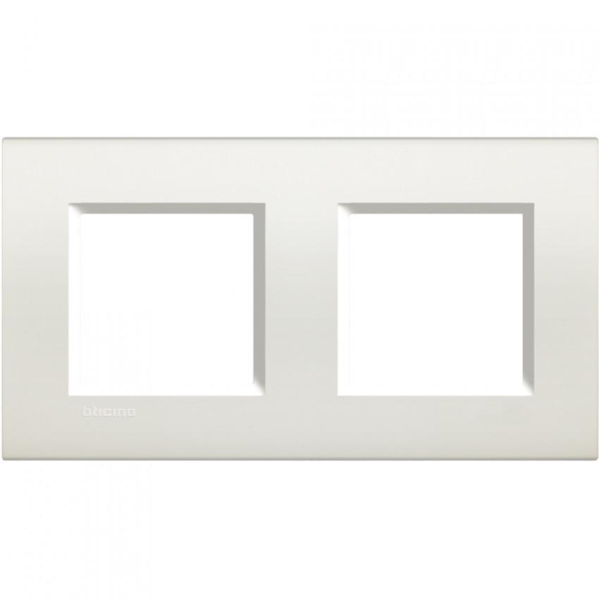 Placa Cuadrada 2x2 Módulos BTicino Living Light LNA4802M2BI
