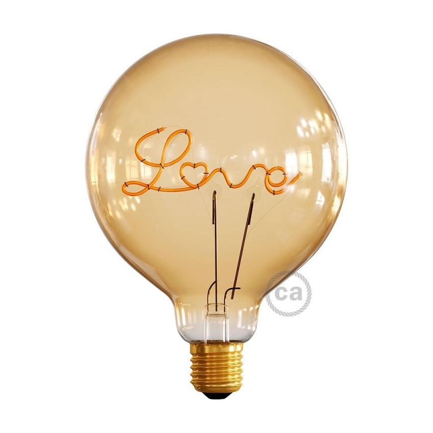Bombilla LED E27 Regulable Filamento 5W Creative-Cables G125 Love Para Bases Modelo CBL700232
