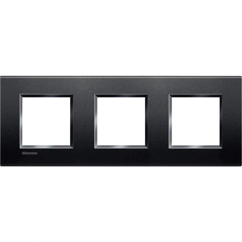 Placa Cuadrada 3x2 Módulos BTicino Living Light LNA4802M3BI