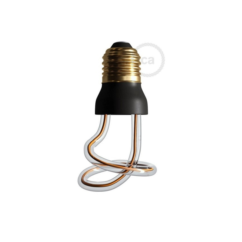 Bombilla LED E27 Regulable Filamento 8W Art Loop Curled Creative-Cables Modelo SEG50149