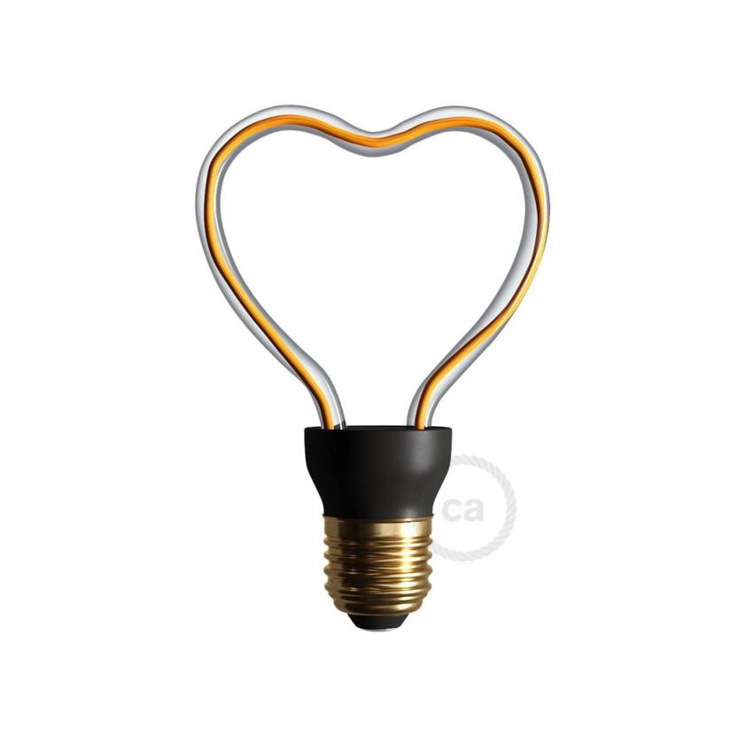 Bombilla LED E27 Regulable Filamento 8W Art Heart Creative-Cables Modelo SEG50148