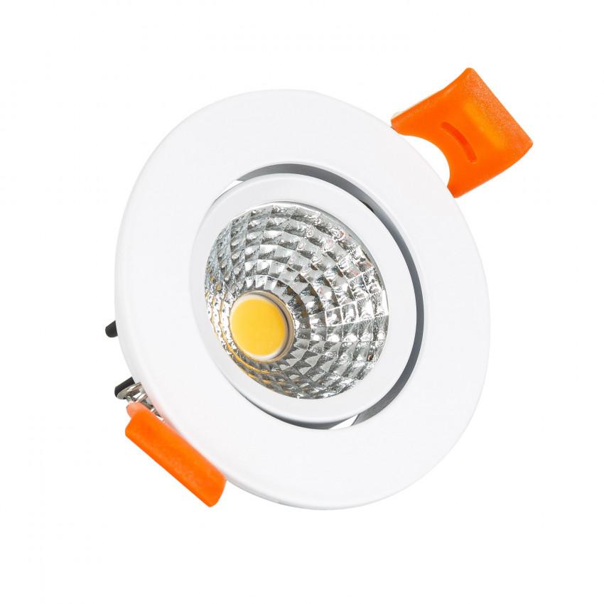 Foco LED Downlight LED 5W COB Direcionável Circular (UGR19) Branco Corte Ø 55 mm CRI92 Expert Color