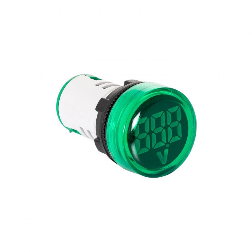 Indicador Luminoso  MAXGE com Voltímetro 20-500V Ø22mm