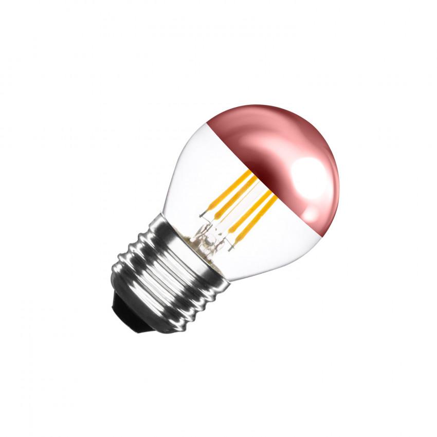 Bombilla LED E27 Regulable Filamento Copper Reflect Small Classic G45 4W