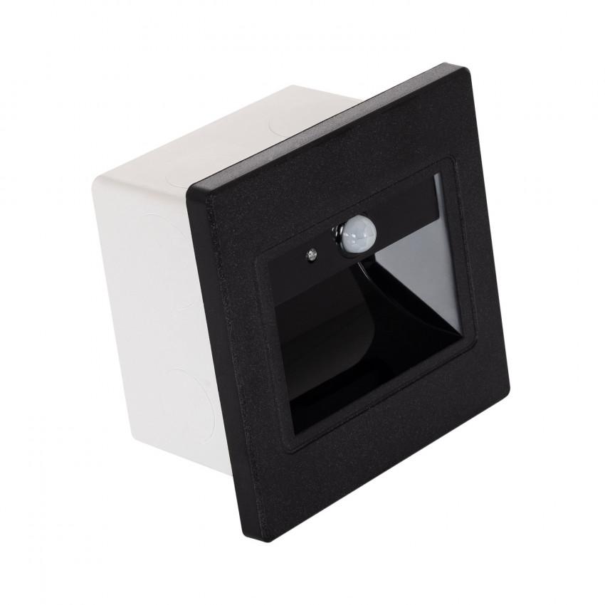 Baliza LED com sensor PIR Acabamento Preto