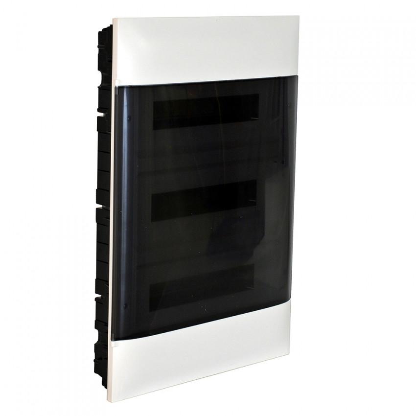 Caixa de Encastrar Practibox S para Divisórias Pré-fabricadas Porta Transparente 3x18 Módulos LEGRAND 137078