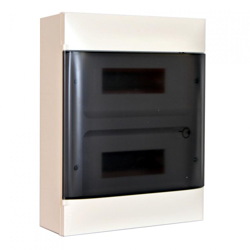 Caja Superficie Practibox S Puerta Transparente 2x12 Módulos LEGRAND 135132