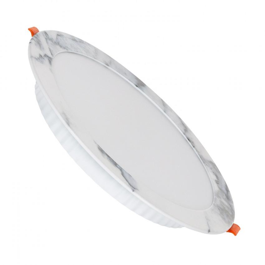 Placa LED 18W Circular Slim Corte Ø 175 mm Acabamento Mármore