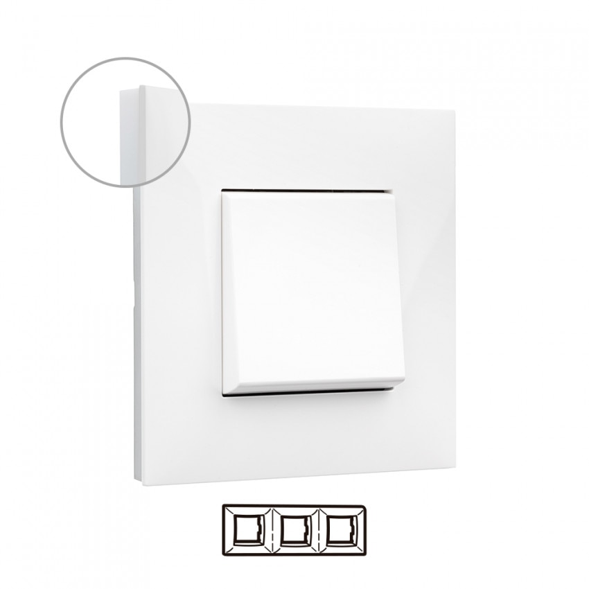 Placa Embelezadora 3 Elementos Branco LEGRAND Valena Next 741003
