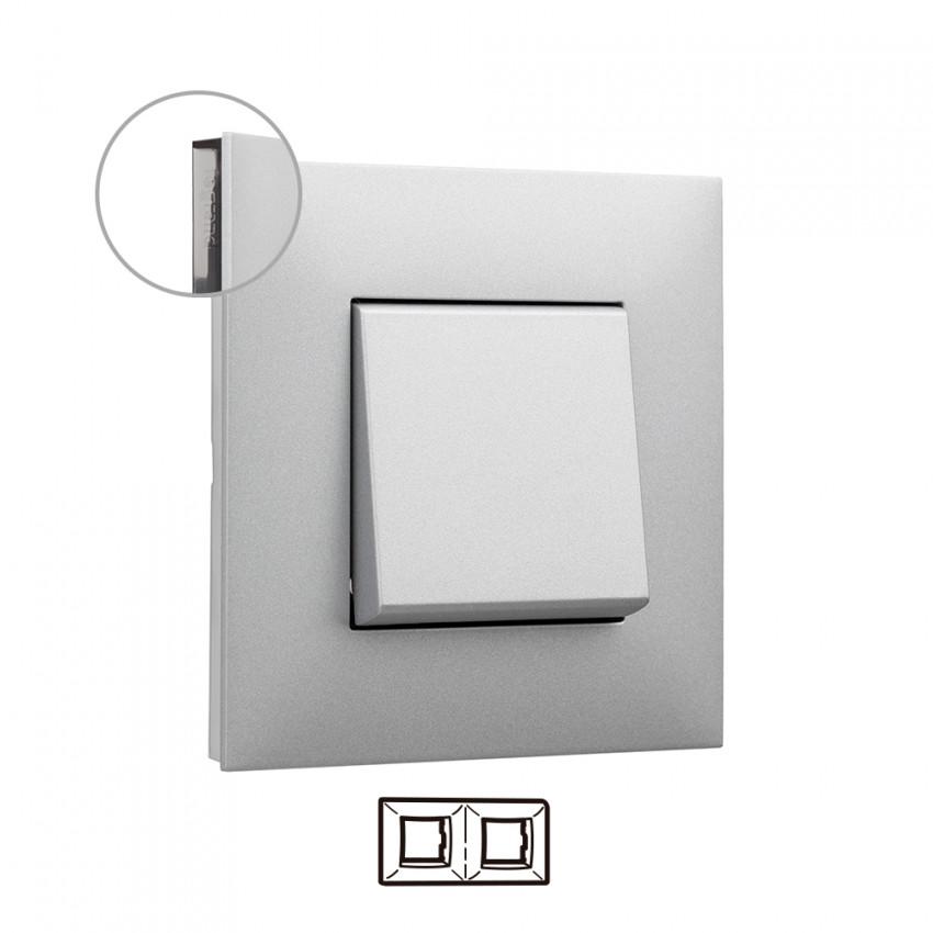 Placa Embelezadora 2 Elementos Alumínio LEGRAND Valena Next 741032