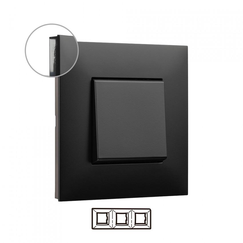 Placa Embelezadora 3 Elementos Dark LEGRAND Valena Next 741053