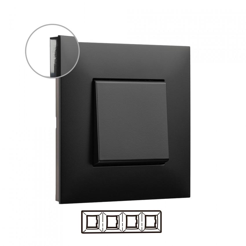 Placa Embelezadora 4 Elementos Dark LEGRAND Valena Next 741054