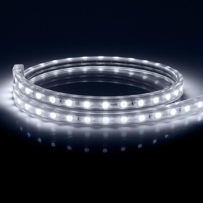 Fita LED 220V AC 100 LED/m Branco Frio IP67 à Medida Corte a cada 25 cm