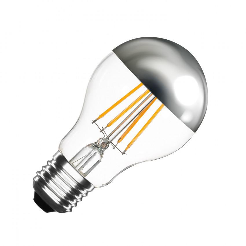 Bombilla LED E27 Regulable Filamento Chrome Reflect Classic A60 6W